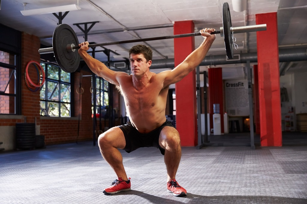 weightlifter clean and jerk